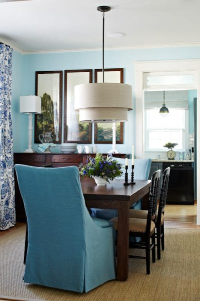 Charming Spaces: Blue Bungalow Dining Room by Lauren Liess