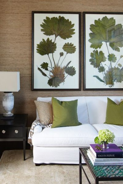 Charming Spaces: Botanical Sitting Room by Erika M. Powell